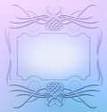 Ornament frame design resource digitally painted rendered in haze hues and complete with swirly elements Stock Images