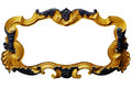 Ornament frame of gold plated vintage floral ,victorian Style Royalty Free Stock Photo