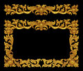 Ornament frame of gold plated vintage floral Royalty Free Stock Photo