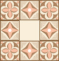 Ornament geometrical vintage color pink and brown Royalty Free Stock Photography