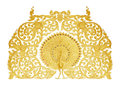 Ornament of gold plated vintage floral thai art style Royalty Free Stock Images
