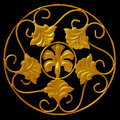 Ornament of gold plated vintage floral victorian style Stock Photos