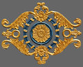 Ornament of gold plated vintage floral victorian style Stock Photography