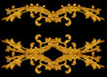 Ornament of gold plated vintage floral victorian style Royalty Free Stock Image