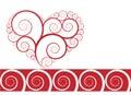 Ornament heart design vecor Stock Photos