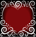 Ornament heart vector illustration of Royalty Free Stock Images
