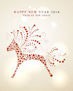 Ornament horse chinese new year of the red dots shape illustration eps vector file with transparency layers Stock Photography
