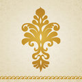 Ornament pattern in victorian style symmetric on seamless curls background element for design it can be used for decorating of Royalty Free Stock Photo