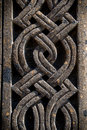 Ornament on stone, part of khachkar Royalty Free Stock Photo