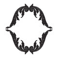 Ornament vector in baroque style for filigree