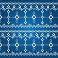 Ornament of white rhombuses (seamless pattern) Royalty Free Stock Photo