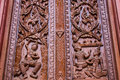 Ornament wooden window of thai temple in chiangmai thailand Royalty Free Stock Images