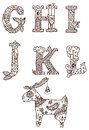 Ornamental alphabet Stock Photography