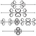 Ornamental Bar Line Divider 41 Stock Photography