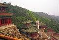 Ornamental beautiful buildings at longevity hill in summer pala palace beijing china Royalty Free Stock Photo