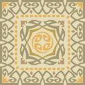 Ornamental blocks tiled background with frame Stock Photography