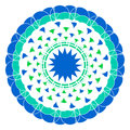 Ornamental blue round lace Stock Photos
