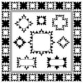 Ornamental Border collection, design element Royalty Free Stock Image
