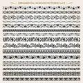 Ornamental border frame line vintage patterns 2 vector Royalty Free Stock Photo
