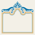 Ornamental border set Stock Photography