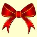 Ornamental bow Stock Photo