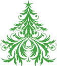 Ornamental christmas tree Stock Photo