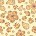 Ornamental colored seamless floral pattern Royalty Free Stock Photos