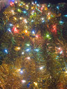 Ornamental colorful electric light closeup photograph on the decoration christmas tree Royalty Free Stock Images