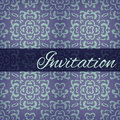 Ornamental damask vintage background invitation card Royalty Free Stock Images