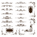 Ornamental design borders and corners Vector set of vintage ornaments