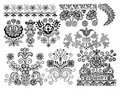 Ornamental design elements Stock Photo