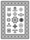 Ornamental design elements monograms vector illustration of ornament with border Stock Image