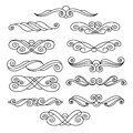 Ornamental design elements, series.Black white.Vector .