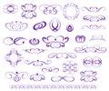 Ornamental design elements, series.Purple
