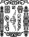 Ornamental element vector illustration of decoration elements set for design Royalty Free Stock Photo