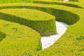 Ornamental english garden green hedges Royalty Free Stock Images