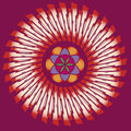 Ornamental esoteric spring mandala Royalty Free Stock Photos