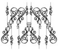 Ornamental-fence-set Royalty Free Stock Photo