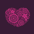 Ornamental floral heart many quality details Stock Images