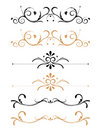 Ornamental floral page decorations Stock Photo