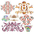 Ornamental floral pattern colors background Royalty Free Stock Image