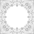 Ornamental frame black and white patterned arabesque ornament Royalty Free Stock Photos