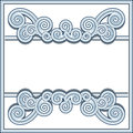Ornamental frame in retro style with decorative wavy swirls on white Stock Photography