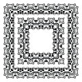 Ornamental frame vector border decorative Stock Photos