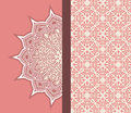 Ornamental graphic design stylized half pattern to right side Royalty Free Stock Images