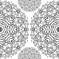 Ornamental half round lace pattern circle background crocheting handmade lace lacy arabesque designs oriental traditional ornament Royalty Free Stock Photo