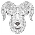 Ornamental head of goat or ram. Royalty Free Stock Photo