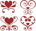 Ornamental hearts Royalty Free Stock Images
