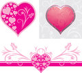 Ornamental hearts for design to the Valentines day Stock Photography