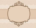 Ornamental invitation background Stock Photo